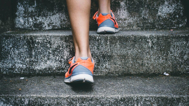 employee wellness 2.0 - person running up stairs