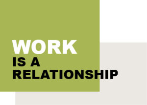 work is a relationship icon